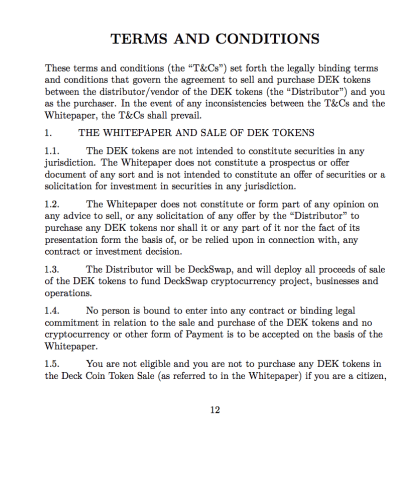 Terms and Conditions Cover